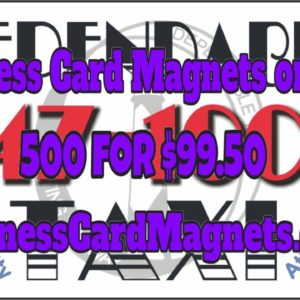 500 business card magnets for $99.50 Delivered!  | Custom Designed Imprint