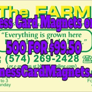 Business Card Magnets On Sale | Custom Imprint | $99.50 for 500 Delivered!