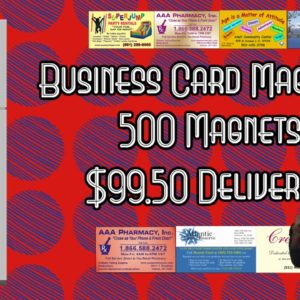 business card magnets on sale | 500 Business Card Magnets for $99.50 delivered.