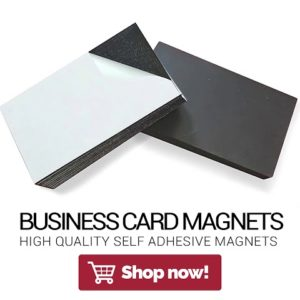 Self Adhesive Business Card Magnets from Flexible Magnets