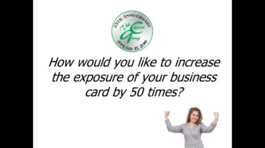 Use your business card as a note pad