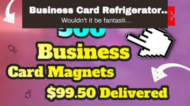 Business Card Refrigerator Magnets Get our magnets right now at these very affordable prices.