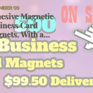 Adhesive Magnetic Business Card Magnets. With a simple magnet you  might get the win-win deal...