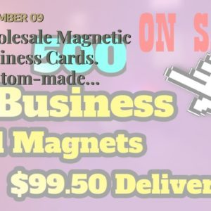 Wholesale Magnetic Business Cards.  Custom-made printed personalized wholesale discount magnet...