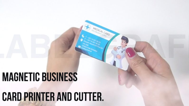 Magnetic business card printer and cutter.