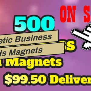 Magnetic Business Cards Magnets Purchase our magnets right away at these very affordable price...