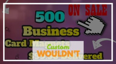 Custom Designed Business Card Magnets. Stick to your customers with magnets.