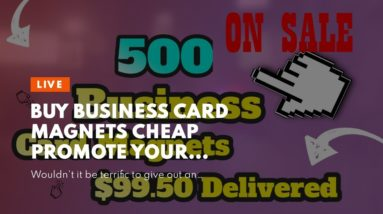 Buy Business Card Magnets Cheap Promote your  organization everyday using magnets.