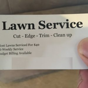 How To Advertise / Grow My Lawn Service Business -  Business Cards