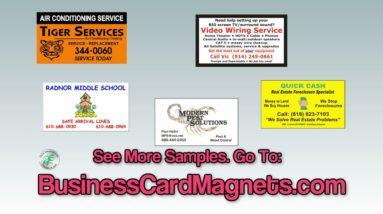Buy The Best Business Card Magnets For Sale at only $99.50 for 500