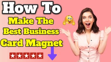 How To Make The Perfect Business Magnet #shorts